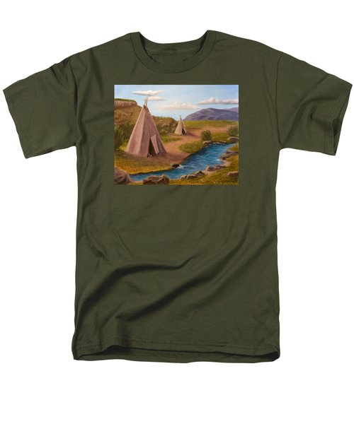 Teepees On The Plains Men's T-Shirt  (Regular Fit) by Sheri Keith