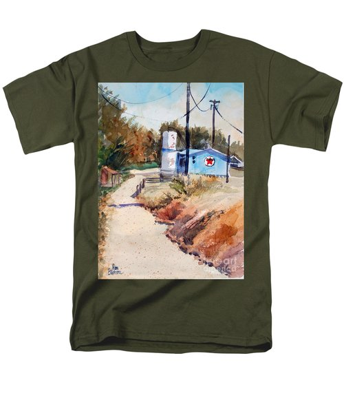 Men's T-Shirt  (Regular Fit) featuring the painting Texaco by Ron Stephens