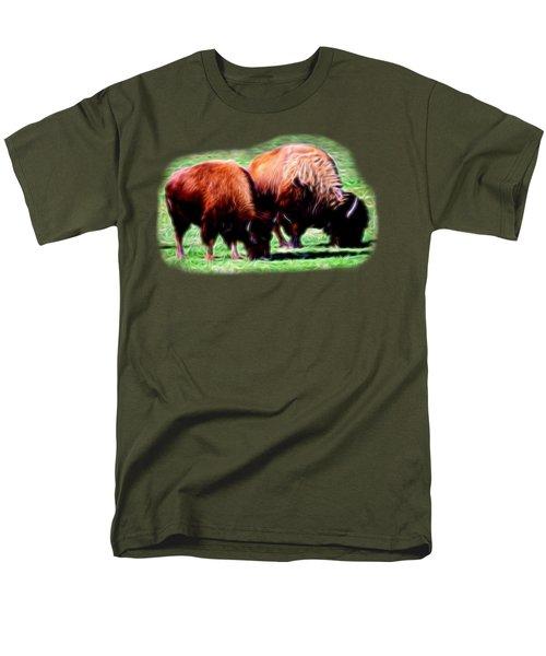 Texas Bison Men's T-Shirt  (Regular Fit) by Linda Phelps