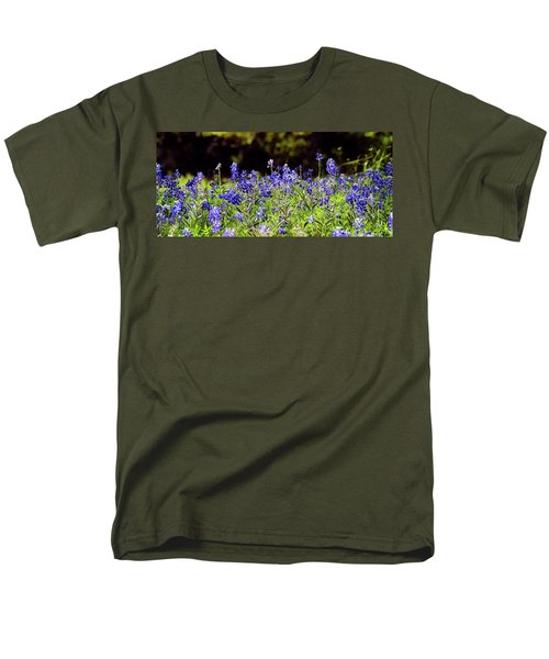 Texas Bluebonnets IIi Men's T-Shirt  (Regular Fit) by Greg Reed