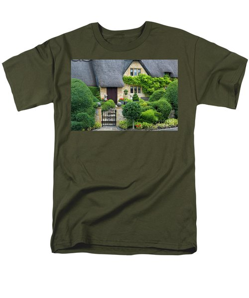 Men's T-Shirt  (Regular Fit) featuring the photograph Thatch Roof Cottage Home by Brian Jannsen
