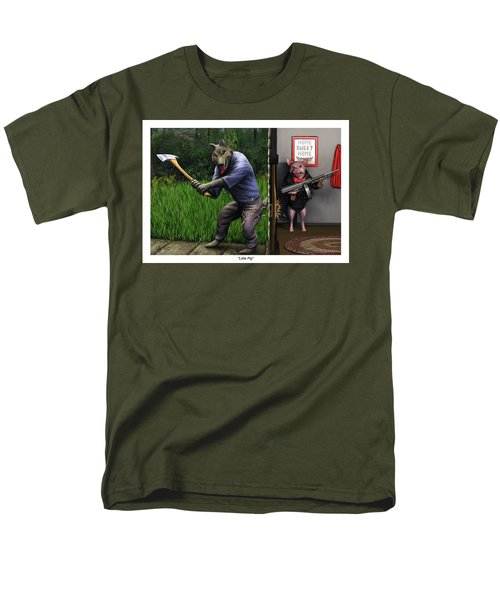 Men's T-Shirt  (Regular Fit) featuring the painting That's What You Think Wolf by Dave Luebbert