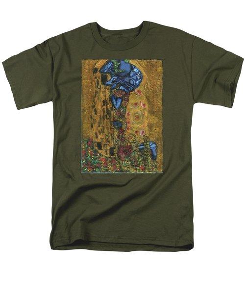 The Alien Kiss By Blastoff Klimt Men's T-Shirt  (Regular Fit)