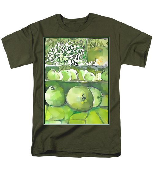 Men's T-Shirt  (Regular Fit) featuring the painting The Apple Closet by Mindy Newman