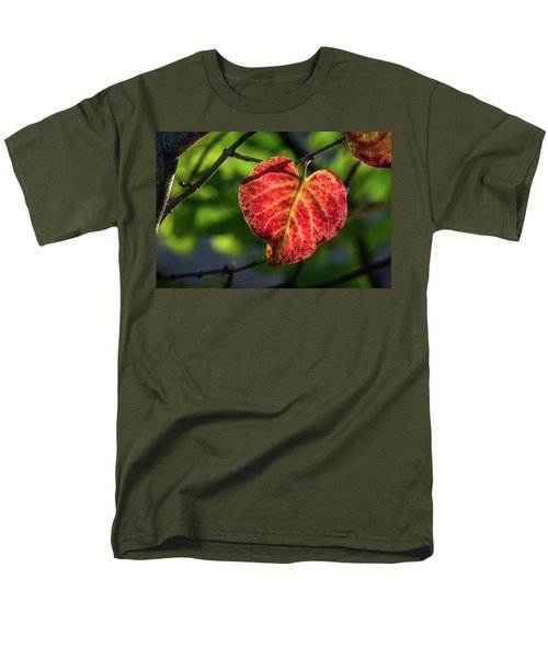 Men's T-Shirt  (Regular Fit) featuring the photograph The Autumn Heart by Bill Pevlor