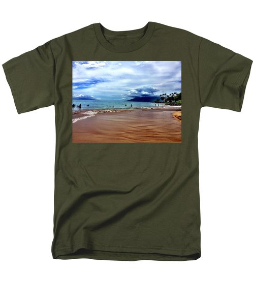 Men's T-Shirt  (Regular Fit) featuring the photograph The Beach by Michael Albright