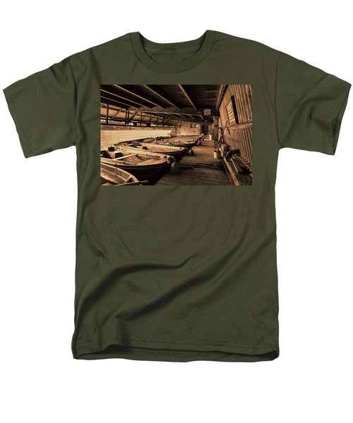 Men's T-Shirt  (Regular Fit) featuring the photograph The Boat House  by Scott Carruthers