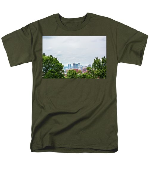 Men's T-Shirt  (Regular Fit) featuring the photograph The City Beyond by Shelby Young
