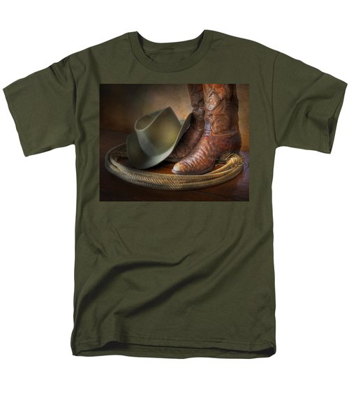 The Cowboy Boots, Hat And Lasso Men's T-Shirt  (Regular Fit) by David and Carol Kelly