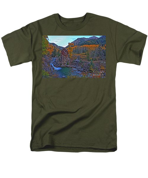 Men's T-Shirt  (Regular Fit) featuring the photograph The Crystal Mill by Scott Mahon