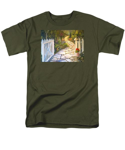 The Cutting Garden Men's T-Shirt  (Regular Fit) by Alan Lakin
