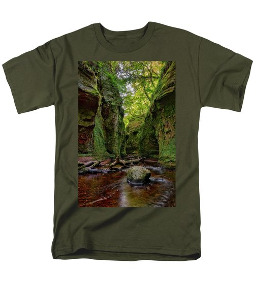 The Devil Pulpit At Finnich Glen Men's T-Shirt  (Regular Fit) by Jeremy Lavender Photography