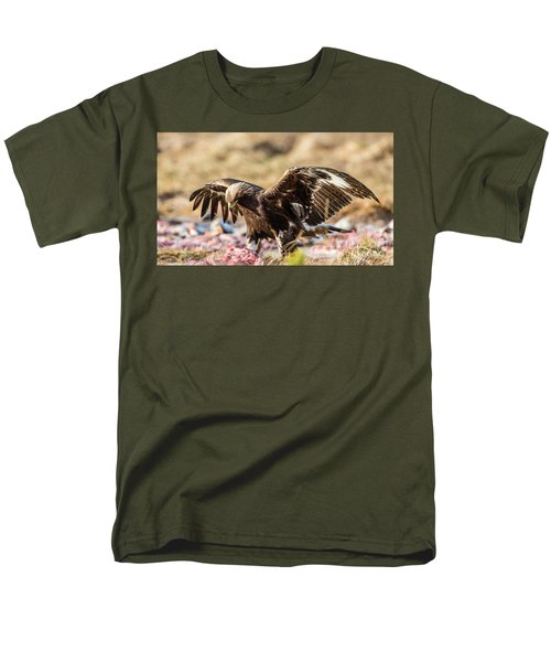 Men's T-Shirt  (Regular Fit) featuring the photograph The Eagle Have Come Down by Torbjorn Swenelius