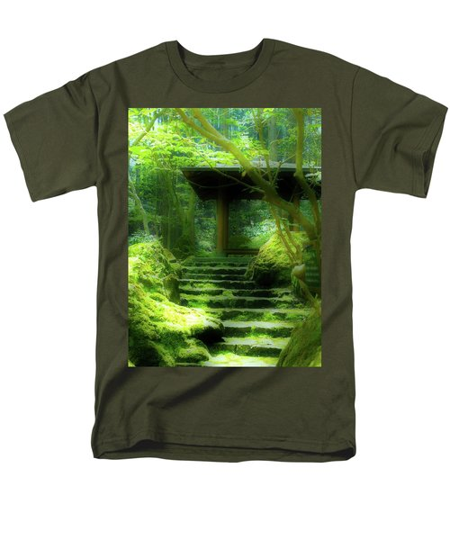 Men's T-Shirt  (Regular Fit) featuring the photograph The Emerald Stairs by Tim Ernst