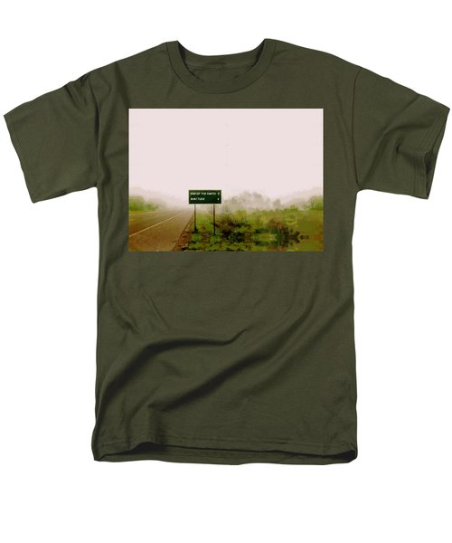 The End Of The Earth Men's T-Shirt  (Regular Fit) by Sam Sidders