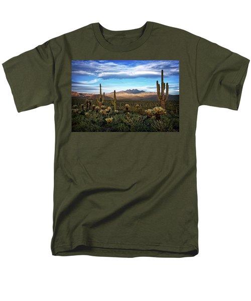 Men's T-Shirt  (Regular Fit) featuring the photograph The Evening Glow  by Saija Lehtonen