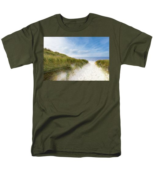 Men's T-Shirt  (Regular Fit) featuring the photograph The First Look At The Sea by Hannes Cmarits