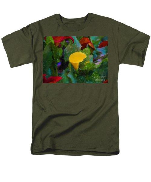 Men's T-Shirt  (Regular Fit) featuring the photograph The Flowers In Juarez Park by John Kolenberg