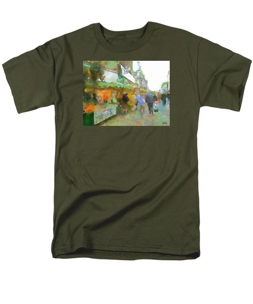 Men's T-Shirt  (Regular Fit) featuring the painting The Food Fair by Wayne Pascall