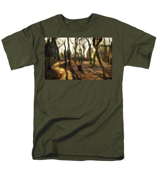 Men's T-Shirt  (Regular Fit) featuring the digital art The Frightening Forest by Gun Legler