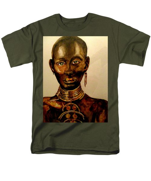 Men's T-Shirt  (Regular Fit) featuring the painting The Golden Black by Yolanda Rodriguez