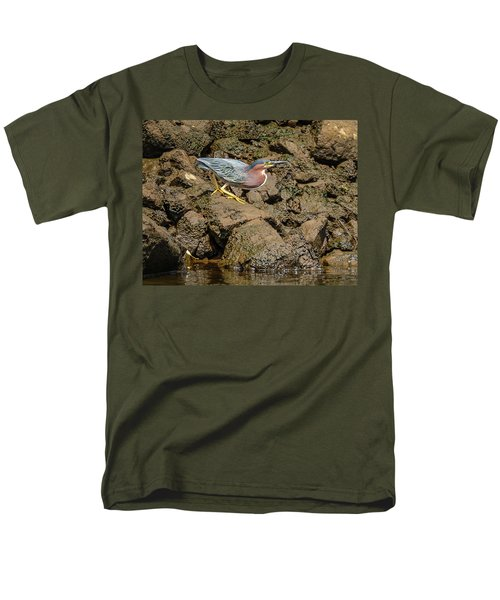 The Green Heron Men's T-Shirt  (Regular Fit) by Jerry Cahill