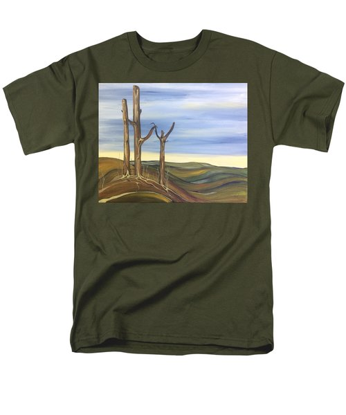 Men's T-Shirt  (Regular Fit) featuring the painting The Guardians by Pat Purdy