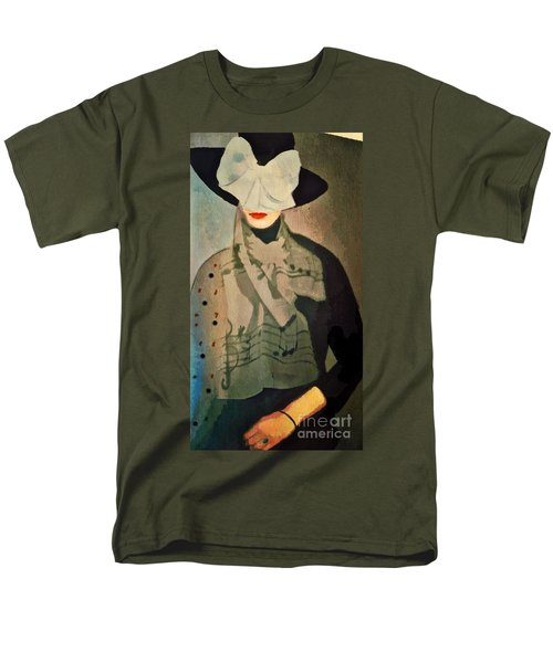 Men's T-Shirt  (Regular Fit) featuring the digital art The Hat by Alexis Rotella