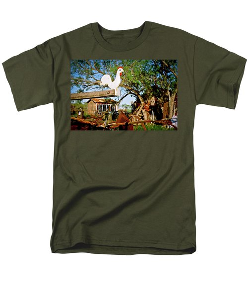 Men's T-Shirt  (Regular Fit) featuring the photograph The Iron Chicken by Linda Unger