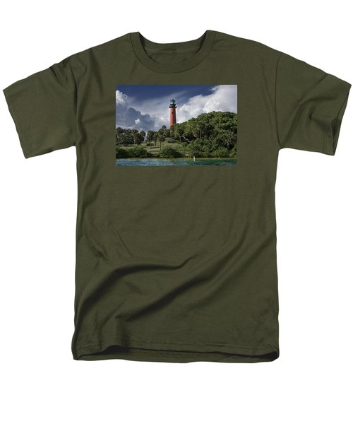 The Jupiter Inlet Lighthouse Men's T-Shirt  (Regular Fit) by Laura Fasulo