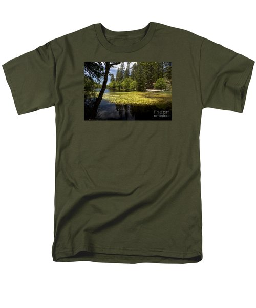 Men's T-Shirt  (Regular Fit) featuring the photograph The Lake Fulmor by Ivete Basso Photography