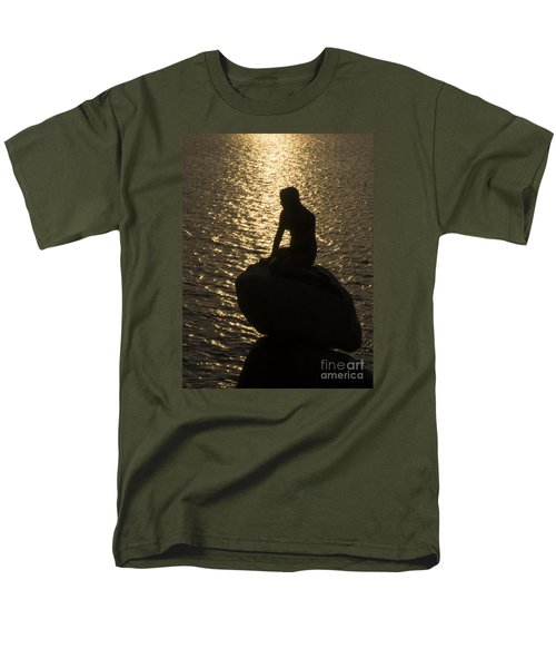 Men's T-Shirt  (Regular Fit) featuring the photograph The Little Mermaid by Inge Riis McDonald