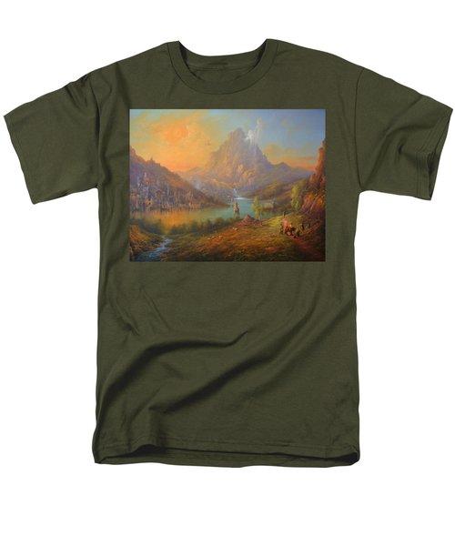 The Lonely Mountain Smaug Men's T-Shirt  (Regular Fit) by Joe  Gilronan