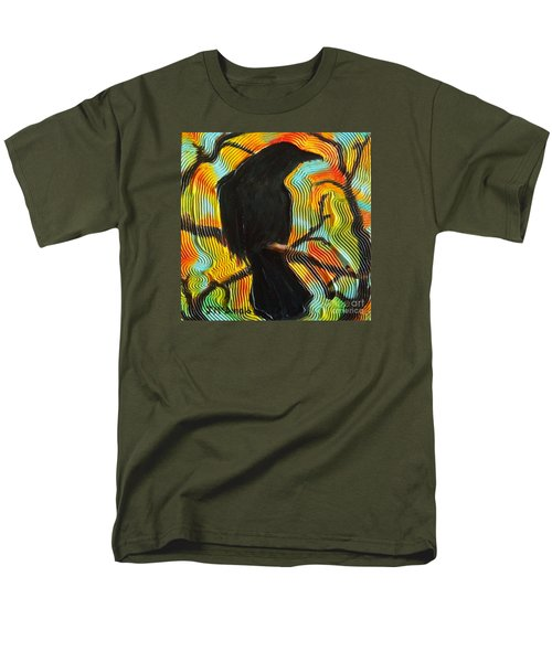 Men's T-Shirt  (Regular Fit) featuring the painting The Lookout by Janet McDonald