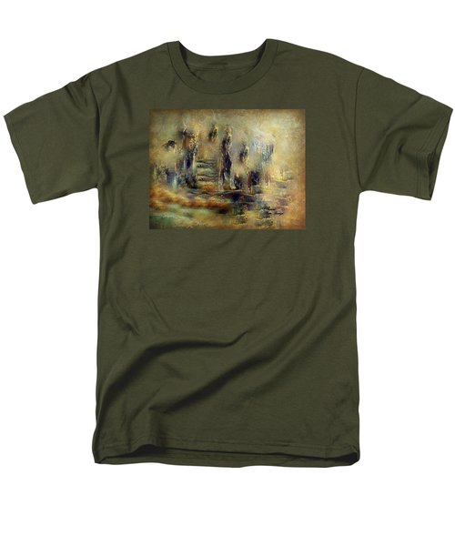 Men's T-Shirt  (Regular Fit) featuring the painting The Lost City By Sherriofpalmsprings by Sherri  Of Palm Springs