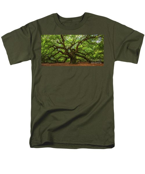 The Magical Angel Oak Tree Panorama  Men's T-Shirt  (Regular Fit) by Michael Ver Sprill