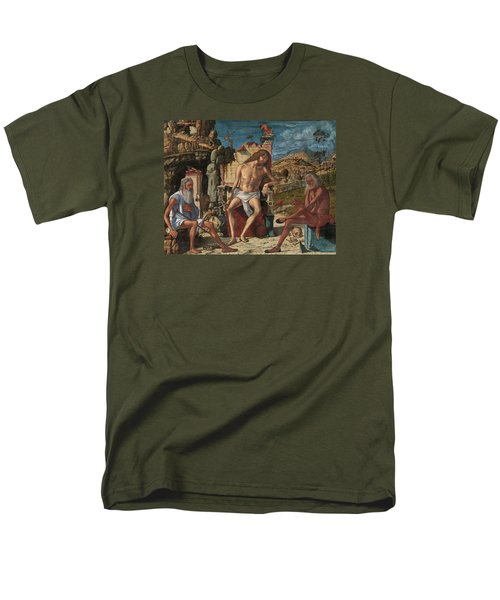Men's T-Shirt  (Regular Fit) featuring the painting The Meditation On The Passion by Vittore Carpaccio