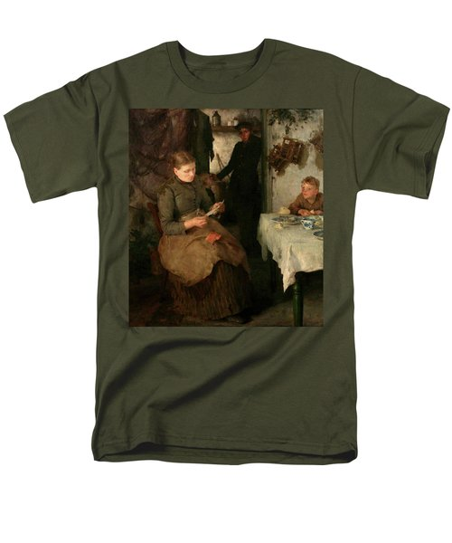 Men's T-Shirt  (Regular Fit) featuring the painting The Message by Henry Scott Tuke
