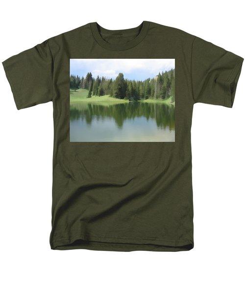 Men's T-Shirt  (Regular Fit) featuring the digital art The Morning Calm by Gary Baird