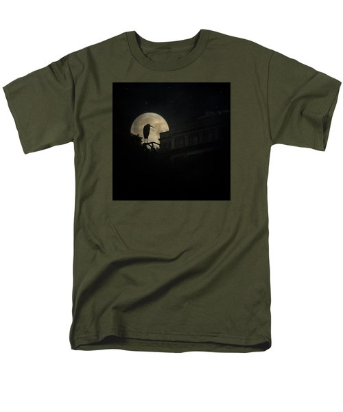 Men's T-Shirt  (Regular Fit) featuring the photograph The Night Of The Heron by Chris Lord