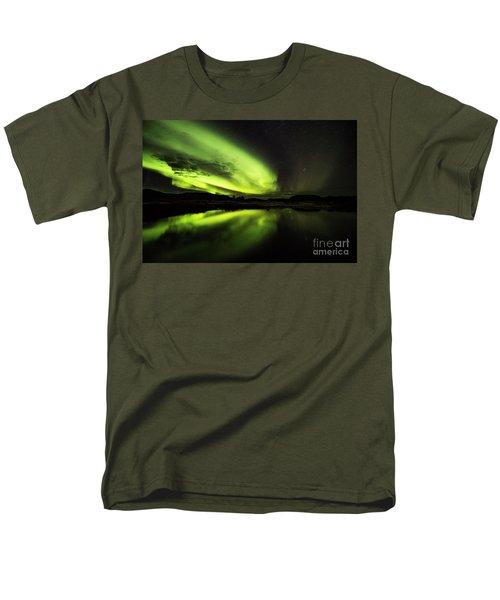 The Northern Lights Thingvellir Men's T-Shirt  (Regular Fit) by Gunnar Orn Arnason