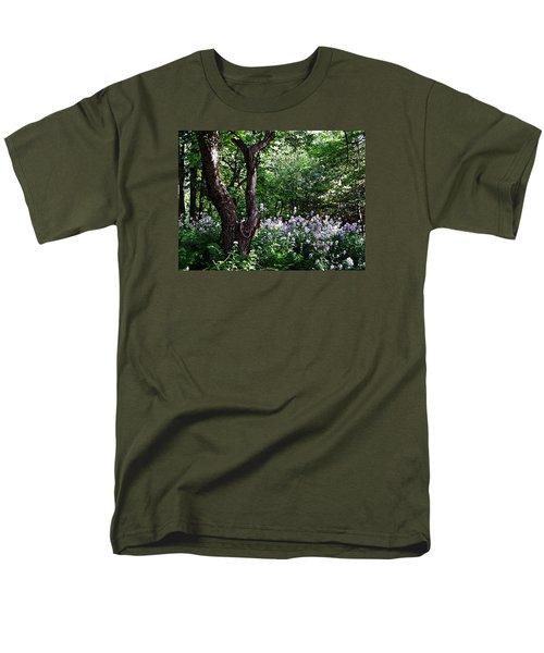 The Old Apple Tree, Fiddlehead Ferns And Wild Phlox Men's T-Shirt  (Regular Fit) by Joy Nichols