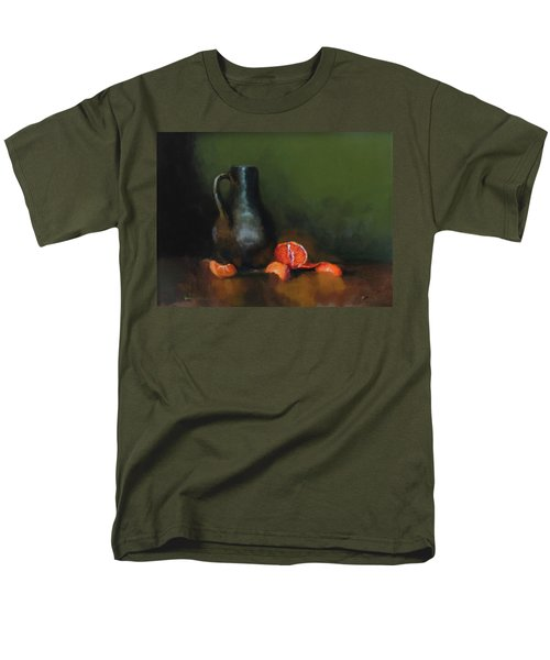Men's T-Shirt  (Regular Fit) featuring the painting The Old Stoneware Mug by Barry Williamson