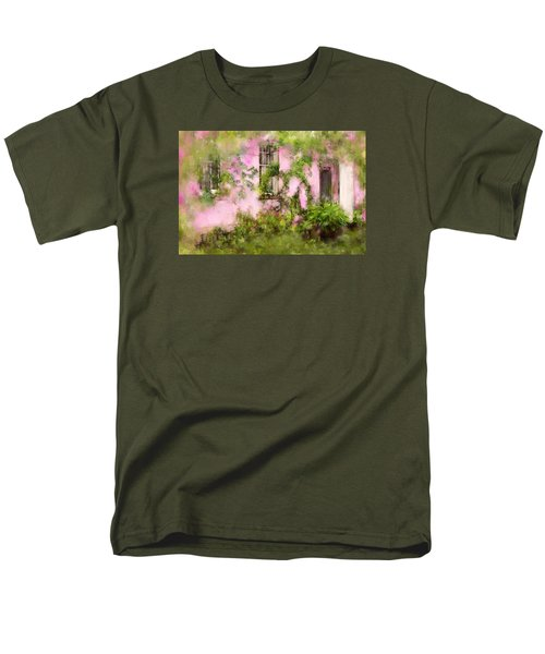 The Olde Pink House In Savannah Georgia Men's T-Shirt  (Regular Fit) by Carla Parris