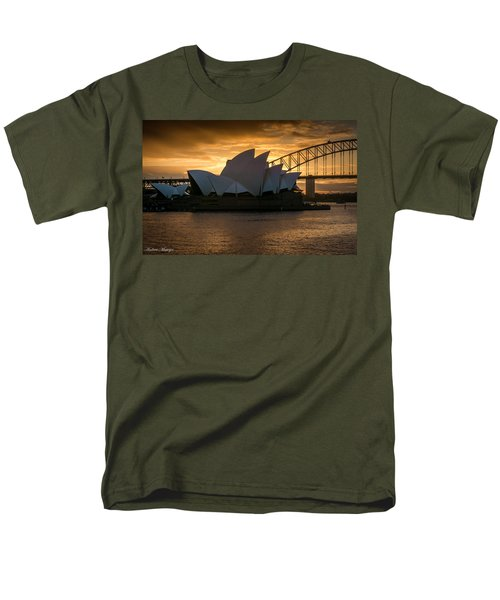Men's T-Shirt  (Regular Fit) featuring the photograph The Opera House by Andrew Matwijec