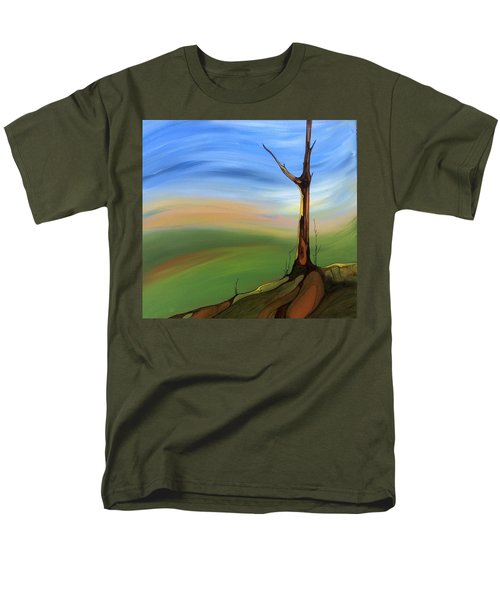 Men's T-Shirt  (Regular Fit) featuring the painting The Painted Sky by Pat Purdy