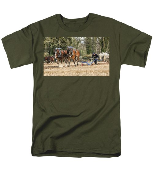 Men's T-Shirt  (Regular Fit) featuring the photograph The Ploughman by Roy McPeak