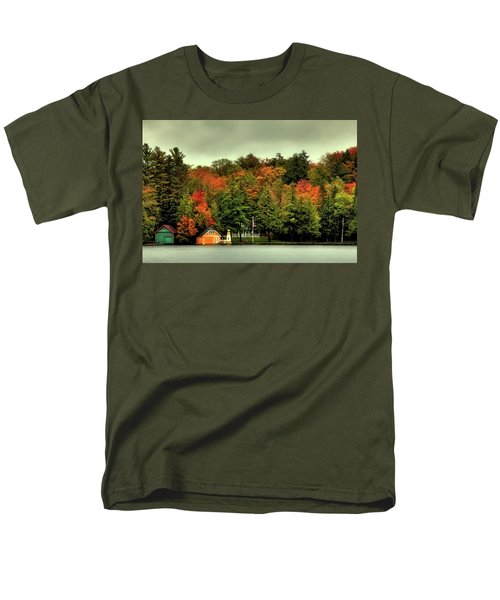 The Pond In Old Forge Men's T-Shirt  (Regular Fit) by David Patterson
