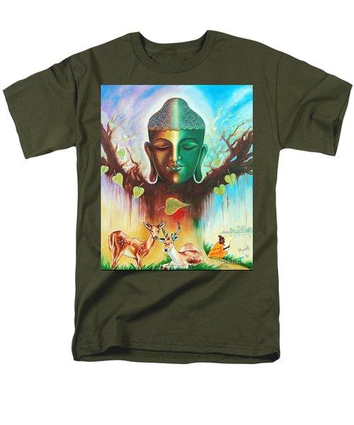 The Power Of Buddha Men's T-Shirt  (Regular Fit) by Ragunath Venkatraman