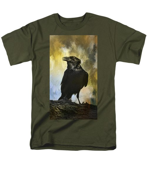 Men's T-Shirt  (Regular Fit) featuring the photograph The Raven by Barbara Manis